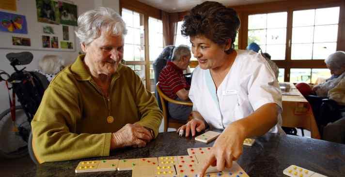 Tertianum Wohn- und Pflegezentrum Zur Heimat, Psychogeriatrische Pflege für Senioren mit Bewegungseinschränkungen oder Demenz